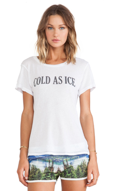 All Things Fabulous Cold as Ice Tee in White