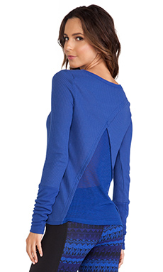 alo Mist Long Sleeve Top in Royalty