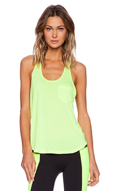 alo Extreme Racer Tank in Highlighter