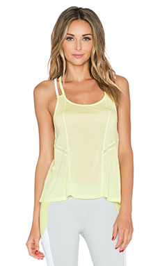 alo Lineal Tank in Sunny Lime