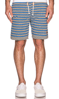 Altru James Stripe Triblend Sweatshorts in Grey Triblend