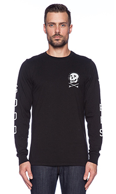 Altru Palm Skull L/S Tee in Graphite