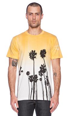 Altru Palms Dipdye Tee in Yellow