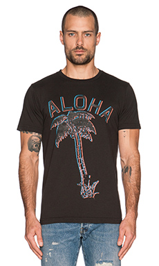 Altru Aloha Palm Tee in Graphite