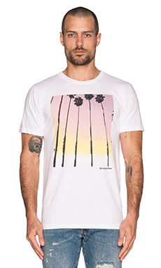 Altru NYT Palm Gradient Tee in White