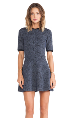 A.L.C. Deele Dress in Navy & Black
