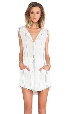 A.L.C. Kearny Stripe Dress in White