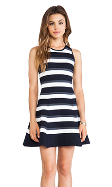 A.L.C. Huntington Stripe Dress Black & Indigo
