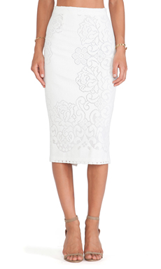 A.L.C. Lucas Skirt in Optic White