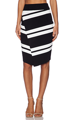 A.L.C. Clift Skirt in Black & Snow
