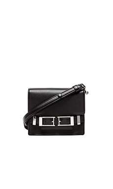 A.L.C. Davenport Crossbody in Black & Nickle