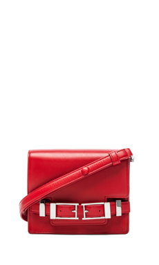 A.L.C. Davenport Crossbody in Red & Nickle