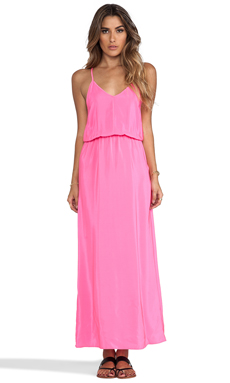 Amanda Uprichard Y-Back Maxi Dress in Hibiscus
