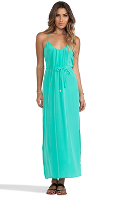 Amanda Uprichard Button Back Maxi in Mint