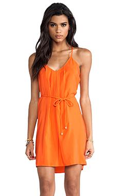Amanda Uprichard Button Back Dress in Orange