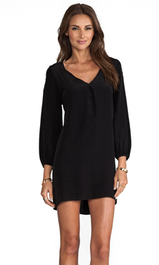 Amanda Uprichard Bardot Dress with Tiffany Sleeve in Black