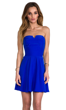 Amanda Uprichard Harper Dress with Bowery Skirt in Royal