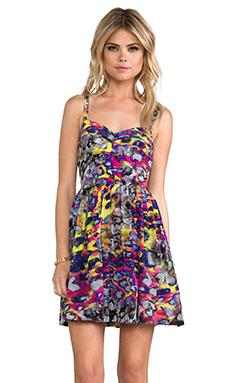 Amanda Uprichard Champagne Dress in Digital Leopard