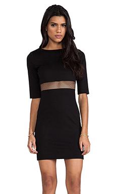 Amanda Uprichard Mesh Sheath Dress in Black