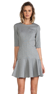 Amanda Uprichard Bustier Ponte Dress in Heather Grey