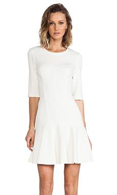 Amanda Uprichard Bustier Ponte Dress in Ivory