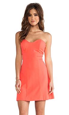 Amanda Uprichard Heart Bustier Mini Dress in Neon Orange