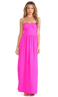 Amanda Uprichard Mimosa Maxi Dress in Hot Pink