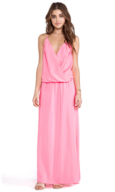 Amanda Uprichard X REVOLVE Crossover Maxi Dress in Pink Ribbon