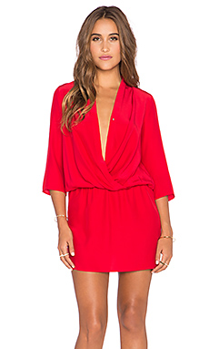 Amanda Uprichard Paloma Dress in Red