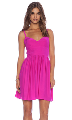 Amanda Uprichard Brunch Dress in Hot Pink