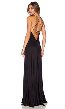 Amanda Uprichard X Back Maxi Dress in Black