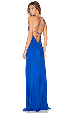 Amanda Uprichard X Back Maxi Dress in Royal