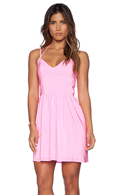 Amanda Uprichard Whenever Dress in Shocking Pink