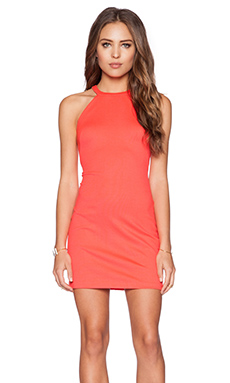 Amanda Uprichard Portia Dress in Hot Orange