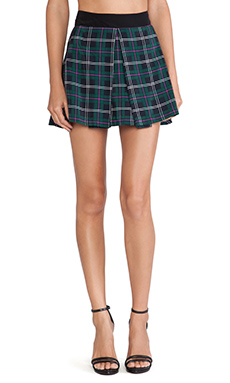 Amanda Uprichard Box Pleated Skirt in Scotch Plaid