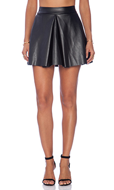 Amanda Uprichard Box Pleat Skirt in Black