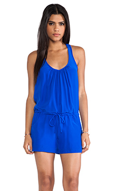 Amanda Uprichard EXCLUSIVE Button Back Romper in Royal