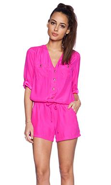 Amanda Uprichard Pocket Romper in Hot Pink