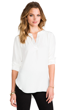 Amanda Uprichard High Liner With Shirt Sleeve in White