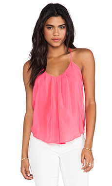 Amanda Uprichard Button Back Cami in Electric Rouge