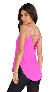 Amanda Uprichard X-Back Cami in Hot Pink