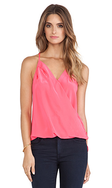 Amanda Uprichard Crossover Tank in Electric Rouge