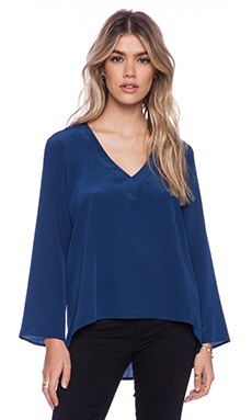 Amanda Uprichard Laurel Blouse in Emerson