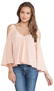 Amanda Uprichard Flutter Top in Ballet