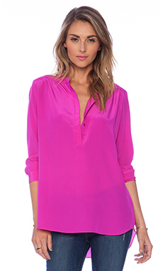 Amanda Uprichard Graham Shirt in Hot Pink