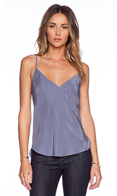 Amanda Uprichard Bias Cami Top in Pewter