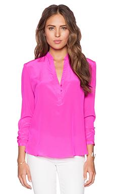 Amanda Uprichard Santana Top in Hot Pink Light
