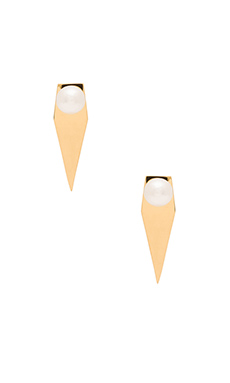 Amber Sceats Pearl Prism Earring in Gold