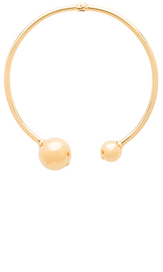 Amber Sceats Double Ball Necklace en Or