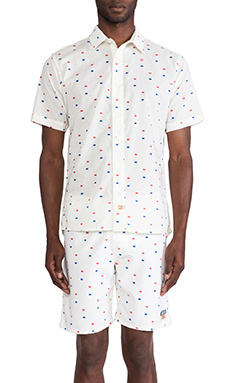 Ambsn Revolution Button Down in Cream